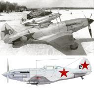 Asisbiz Mikoyan Gurevich MiG 3 12GvIAP Red 12 at Vnukovo Moscow 7th Mar 1942 0A