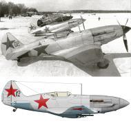 Asisbiz Mikoyan Gurevich MiG 3 12GvIAP Red 12 at Vnukovo Moscow 7th Mar 1942 0B