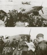 Asisbiz Mikoyan Gurevich MiG 3 12GvIAP Red 49 flown by Capt KA Kriukov at Vnukovo Moscow spring 1942 01