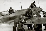 Asisbiz Mikoyan Gurevich MiG 3 12GvIAP flown by Lt Sorokin with combat damage at Vnukovo 1942 01