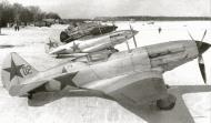 Asisbiz Mikoyan Gurevich MiG 3 12GvIAP line up at Vnukovo Moscow 7th Mar 1942 01