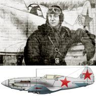 Asisbiz Mikoyan Gurevich MiG 3 185IAP Silver 97 SqnCmdr Capt Alexander Murmilov at Volkhov Front Dec 1941 0A