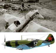 Asisbiz Mikoyan Gurevich MiG 3 2GvSAP VVS SF White 57 at Vayenga airport in 1942 0A