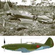 Asisbiz Mikoyan Gurevich MiG 3 5AP VVS KBF Lt NM Estyen force landed sn 2171 after being hit by flak Utti Finland 12th July 1941 0A