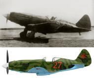 Asisbiz Mikoyan Gurevich MiG 3 7IAP Red 27 near Leningrad 1942 0A