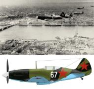 Asisbiz Mikoyan Gurevich MiG 3 over the Peter and Paul Fortress in Leningrad autumn 1941 0A
