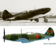 Asisbiz Mikoyan Gurevich MiG 3 perhaps 180IAP Blue 1 Moscow Front winter 1941 42 0A