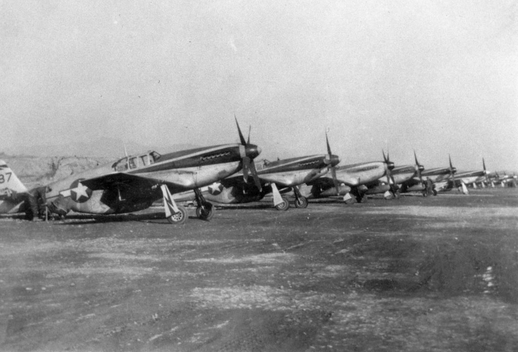 1 P 51 Mustangs 118th Tactical Recon Squadron Suichwan 1944 01
