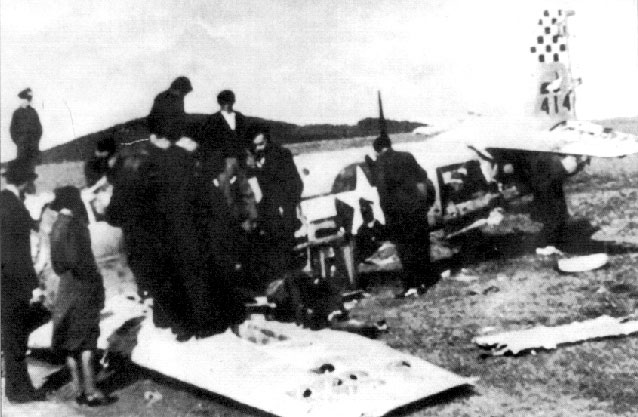USAAF sn 44 14272 P 51D Mustang 67TRG15RS 5M F crashed Rokycany Region Apr 25 1945 03