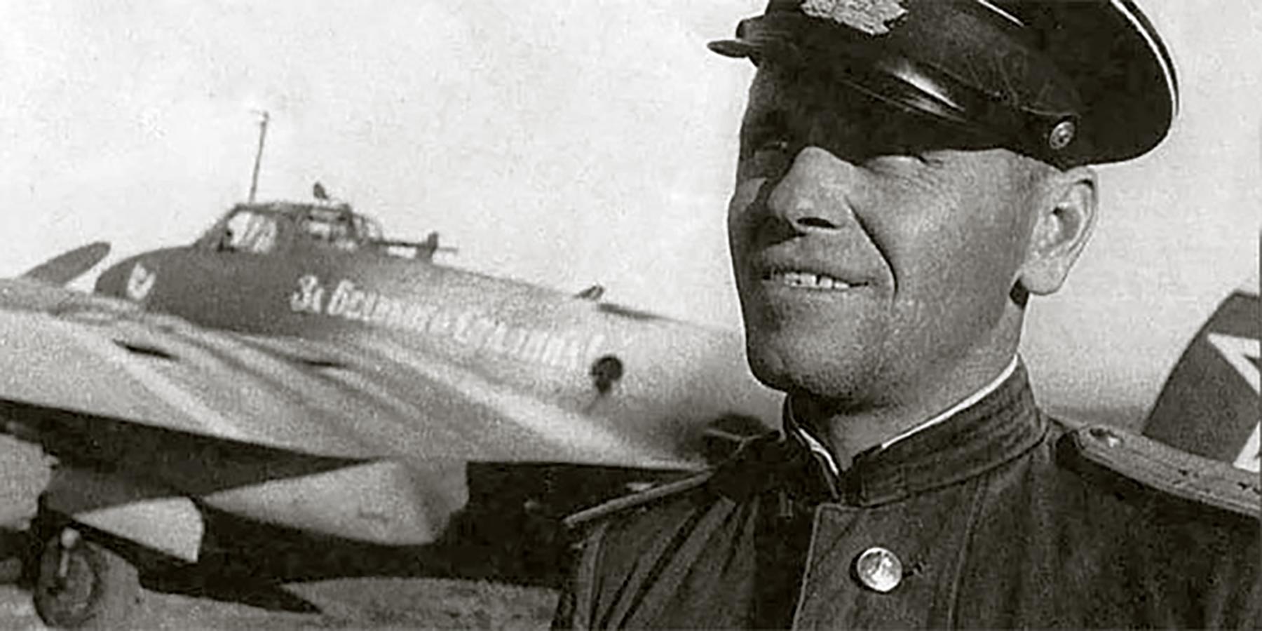 Aircrew Soviet 40GvBAP Hero of the Soviet Union Lt Colonel Korzunov 1944 01