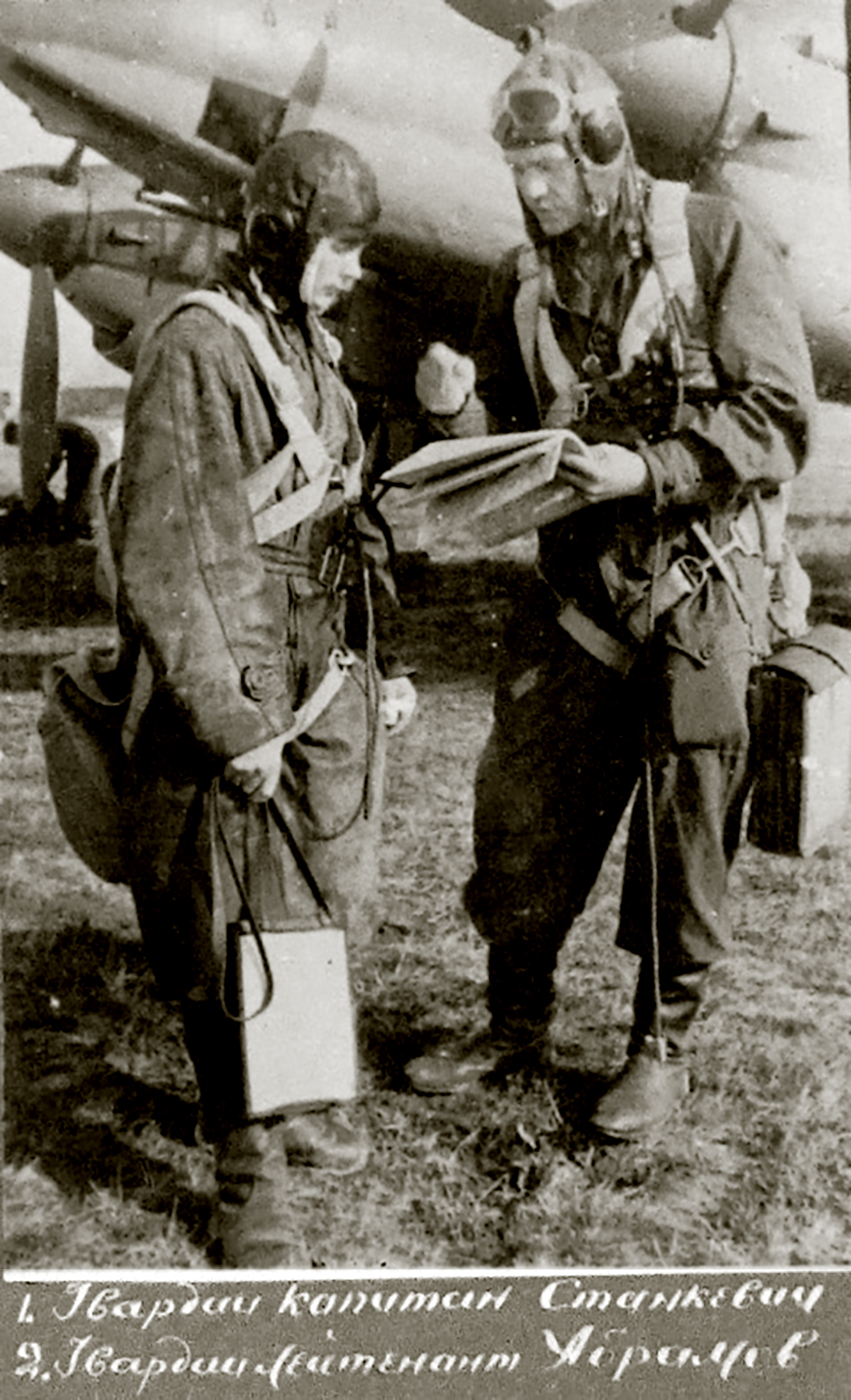 Aircrew Soviet 48GAPDr with Captain Stankevich and Guard Lieutenant Abramov 01