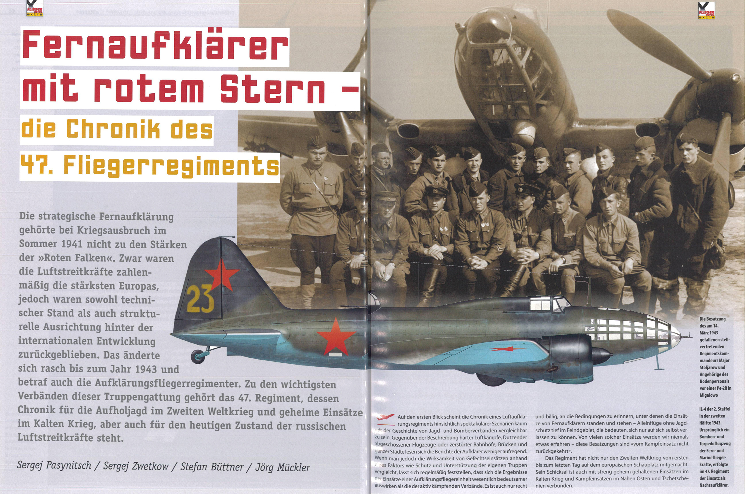 Article from German aviation magazine Flieger Revue extra 30 page 54 55