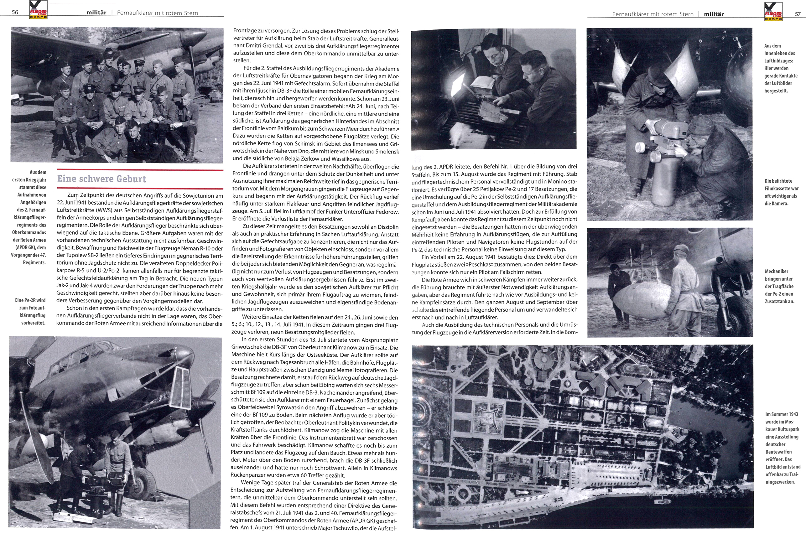 Article from German aviation magazine Flieger Revue extra 30 page 56 57