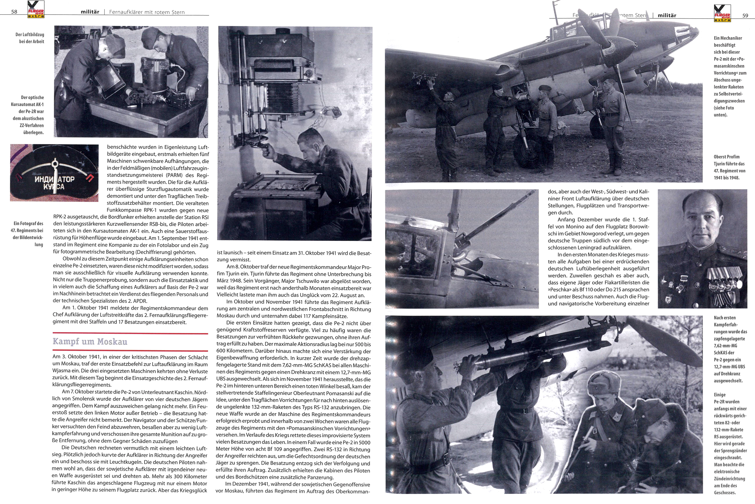 Article from German aviation magazine Flieger Revue extra 30 page 58 59