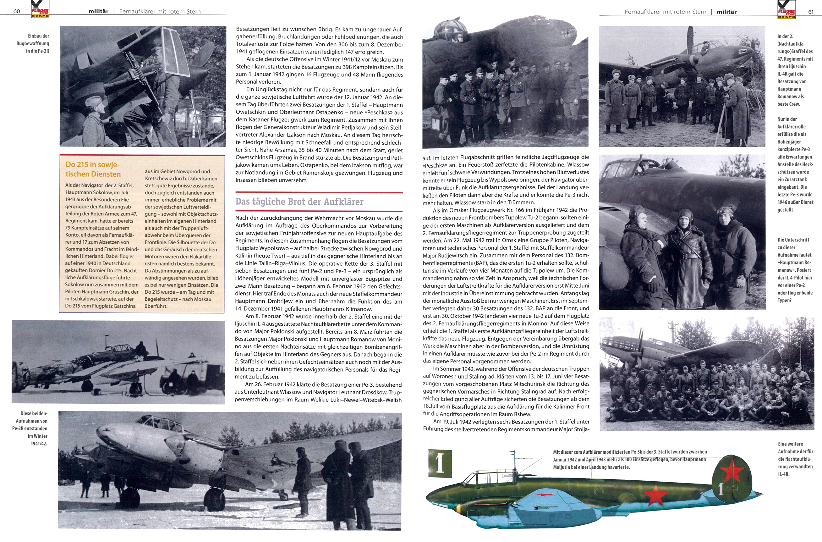 Article from German aviation magazine Flieger Revue extra 30 page 60 61