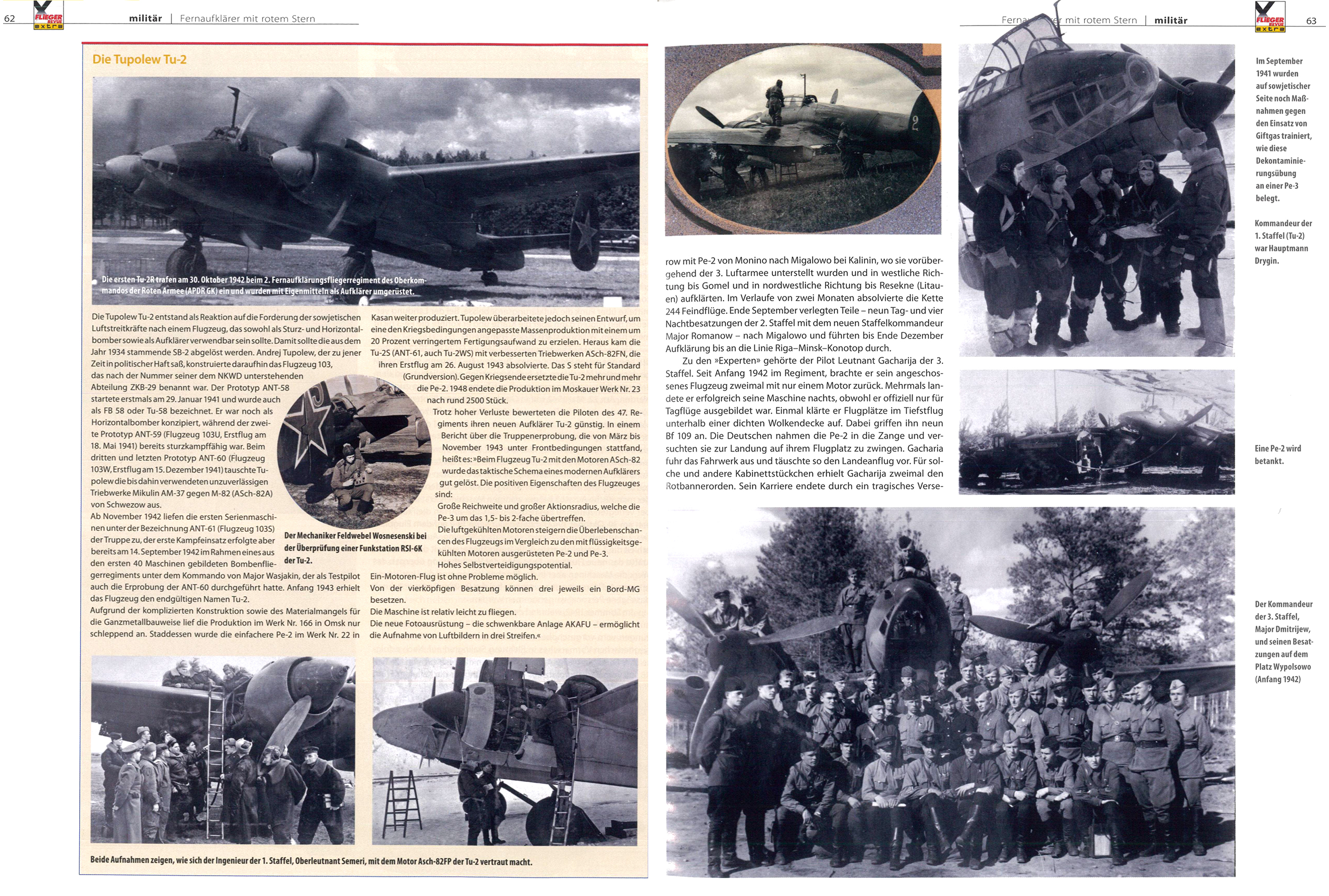 Article from German aviation magazine Flieger Revue extra 30 page 62 63