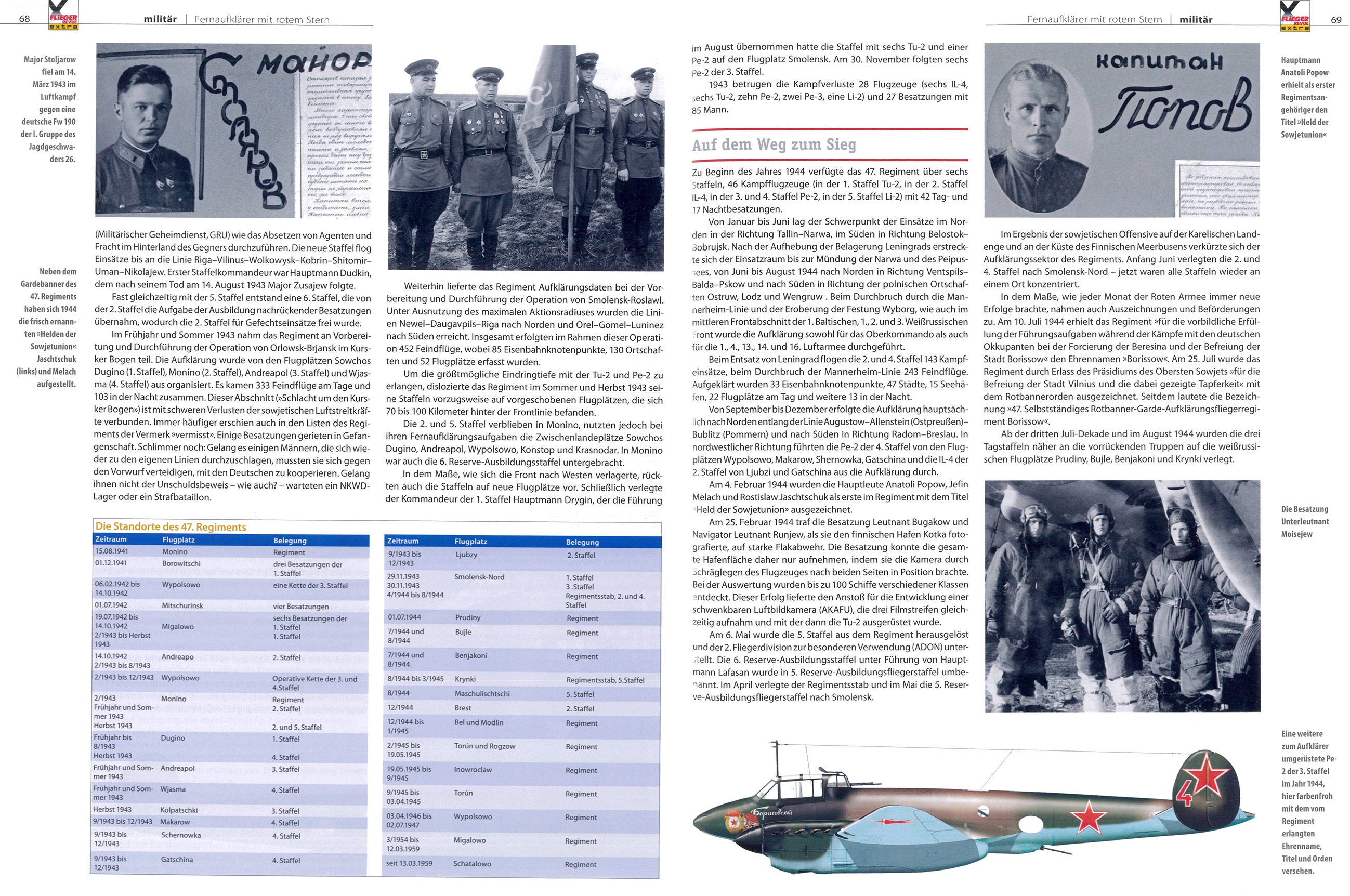Article from German aviation magazine Flieger Revue extra 30 page 68 69