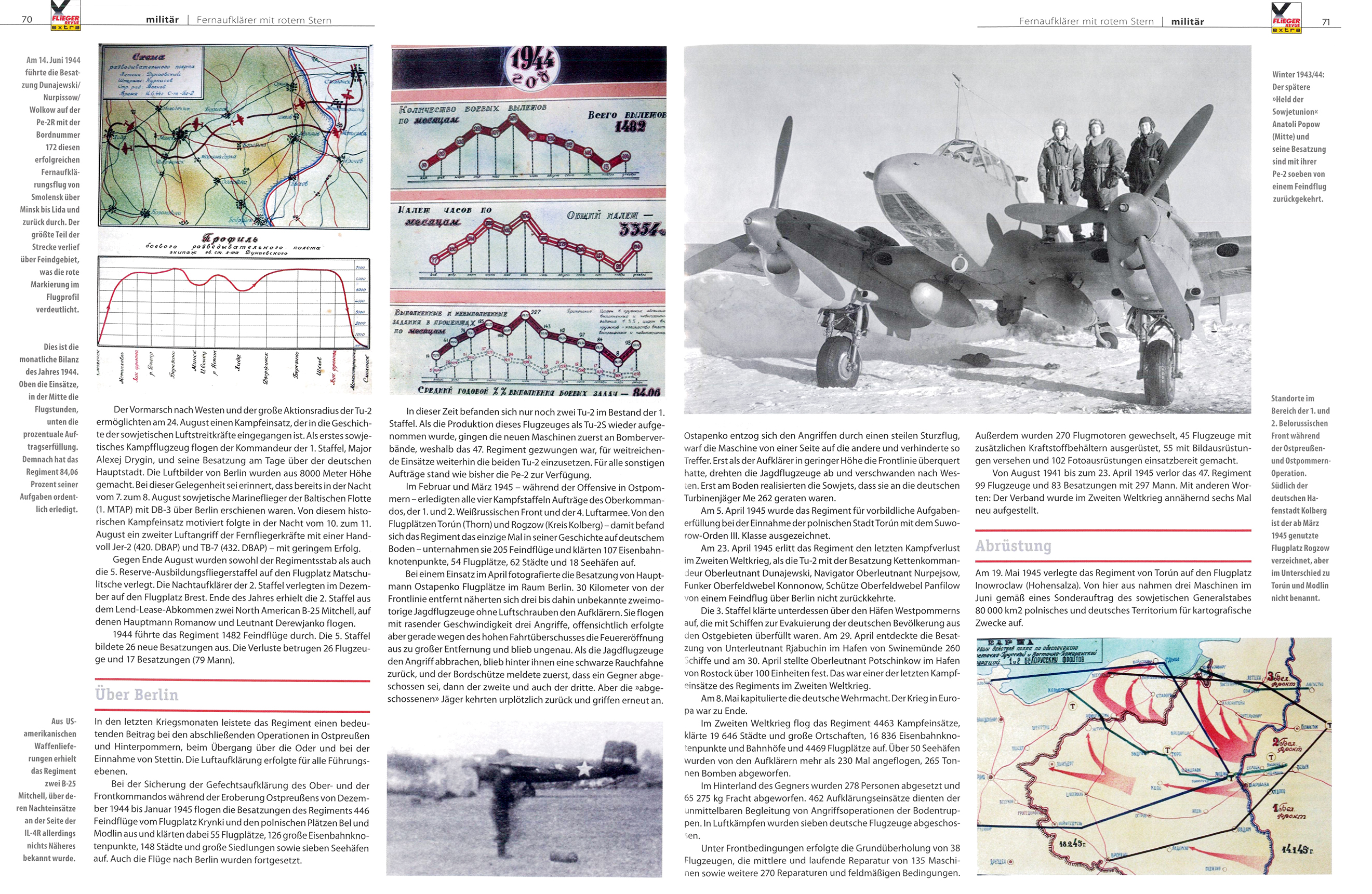 Article from German aviation magazine Flieger Revue extra 30 page 70 71