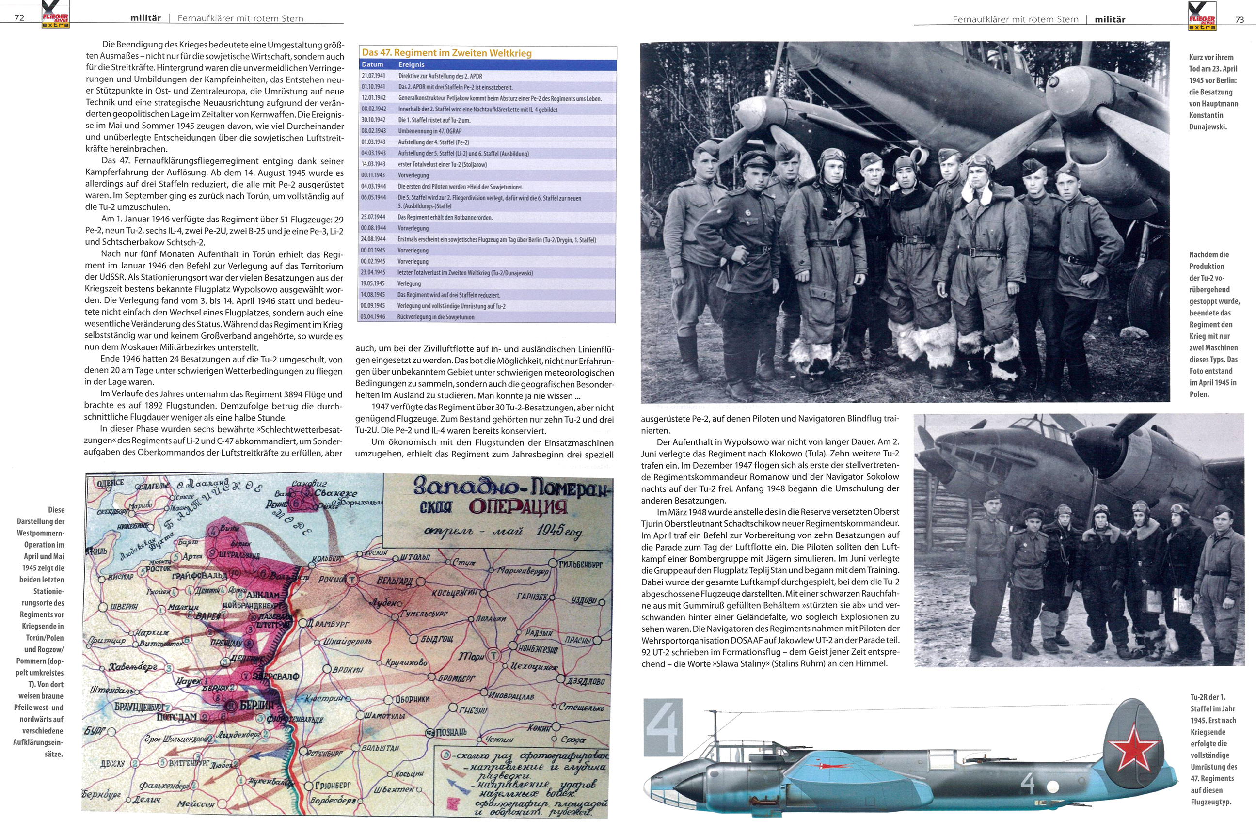 Article from German aviation magazine Flieger Revue extra 30 page 72 73
