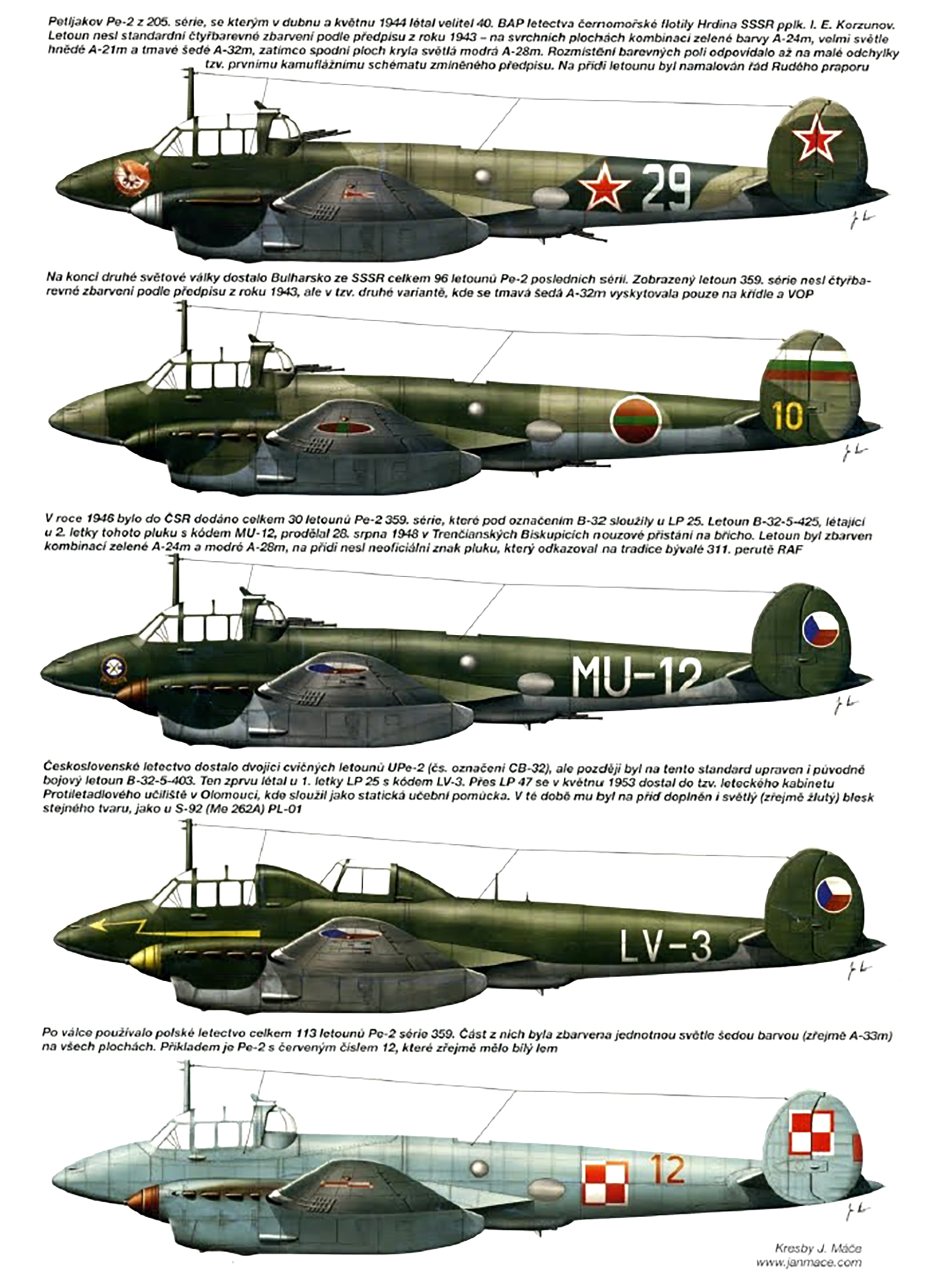 Aviation magazine profiles of Petlyakov Pe 2 0B