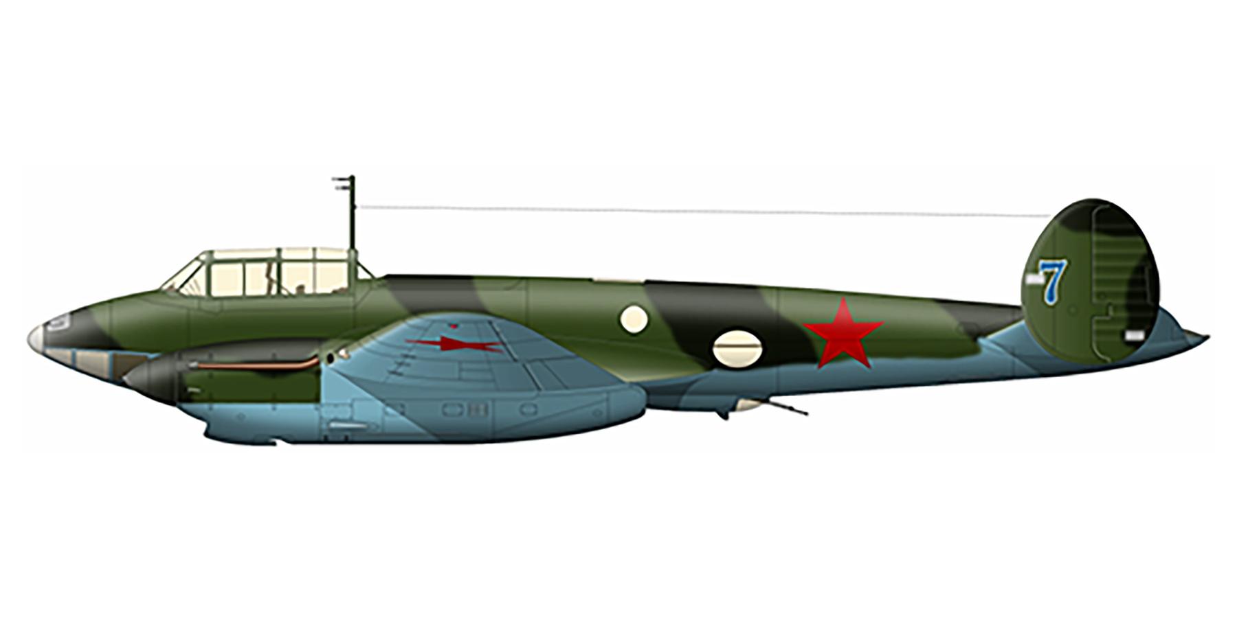 Petlyakov Pe 2 128SBAP Blue 7 Kalinin front 1943 0A