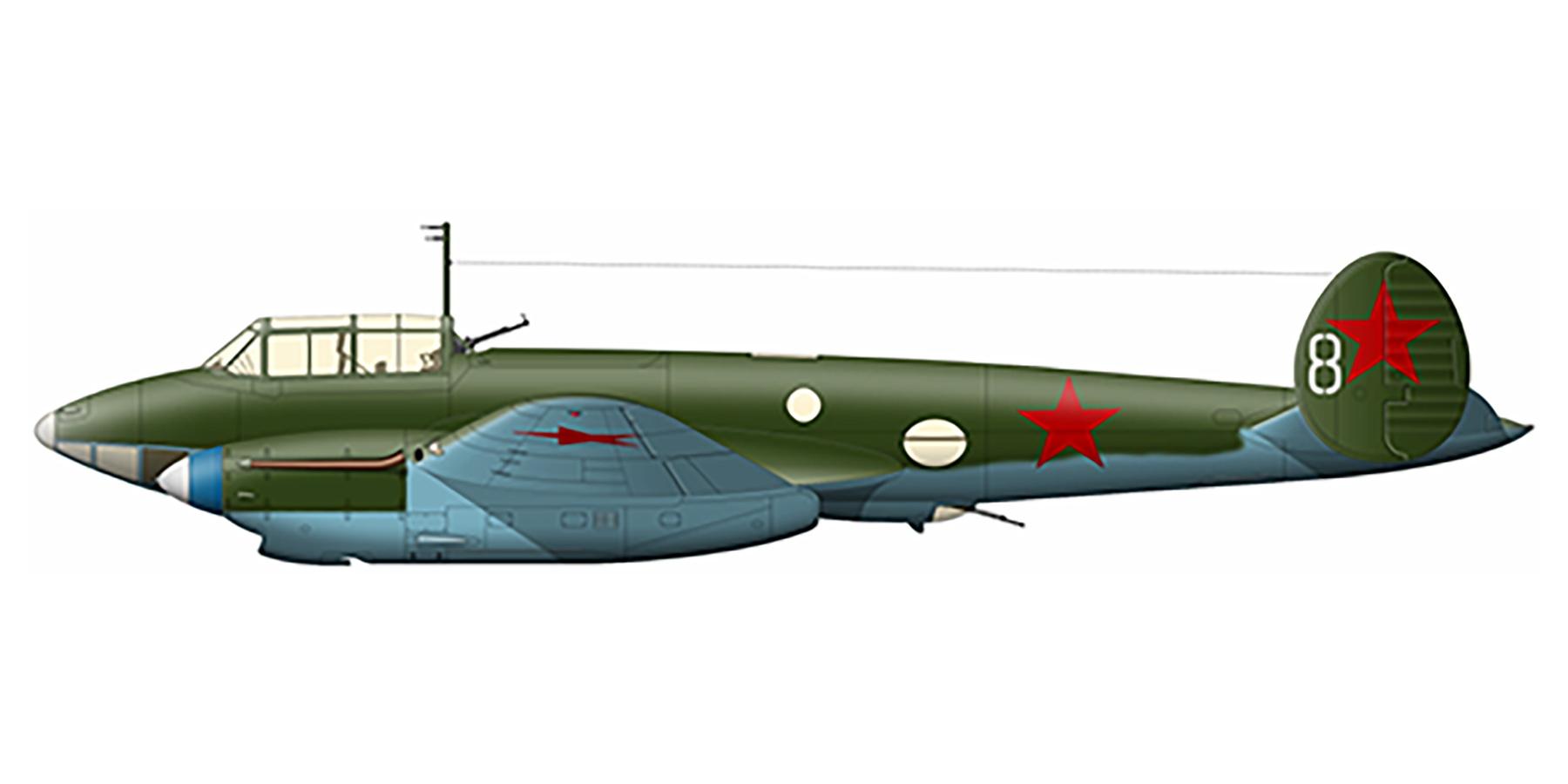 Petlyakov Pe 2 128SBAP White 8 Kalinin front 1943 01