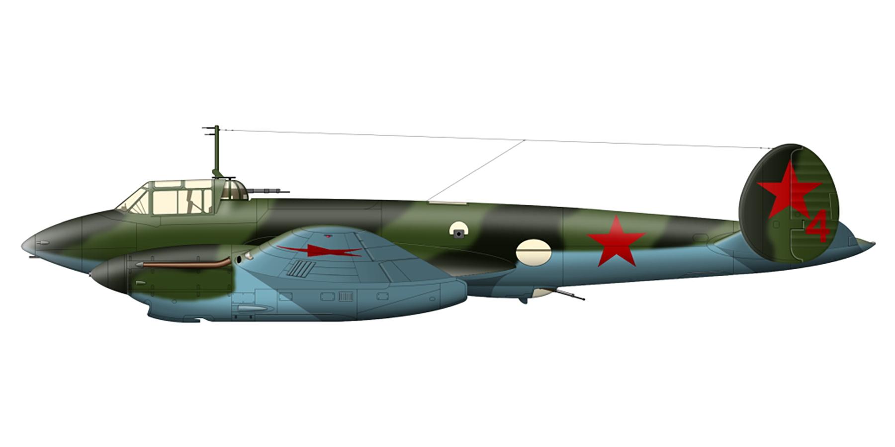 Petlyakov Pe 2 81GvBAP Red 4 Battle of Kursk 1943 0A
