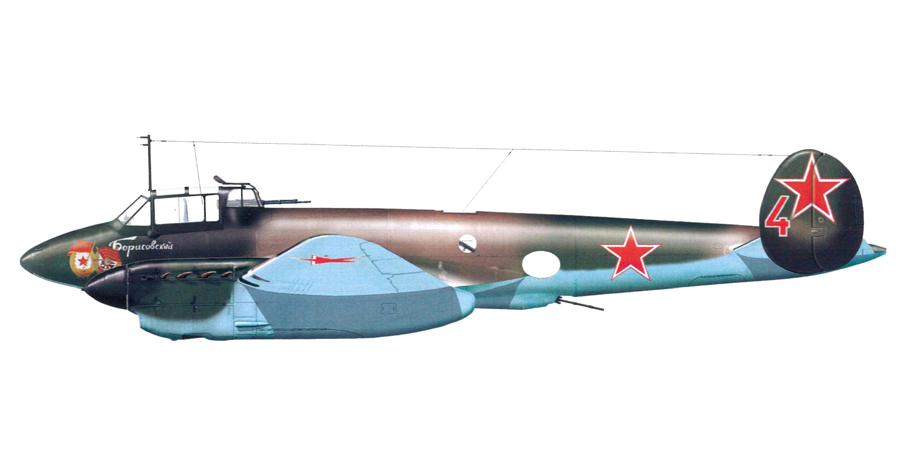 Petlyakov Pe 2 Guards Recon unit 3Sqn Red 4 1944 Flieger Revue extra 30 page 68