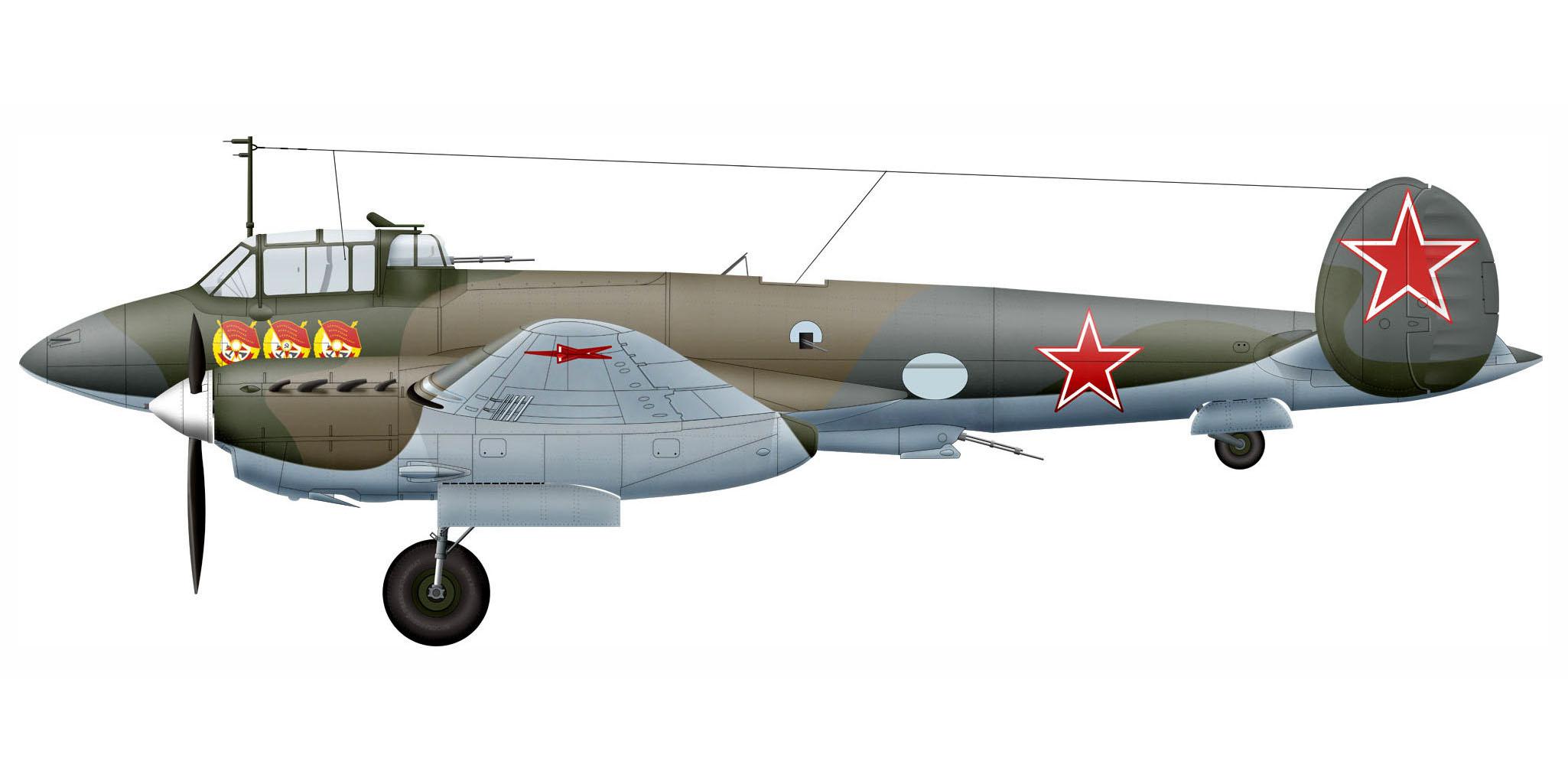 Petlyakov Pe 2 of Lt Ovsyannikov who flew 107 missionsLeningrad Front Aug 1945 0A