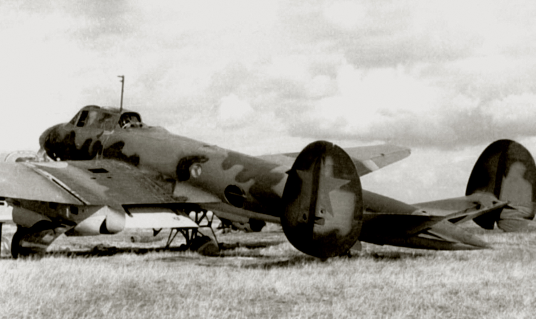 Petlyakov Pe 2 type 1 sn 391317 captured by German forces during Operation Barbarosa Russia 1941 01