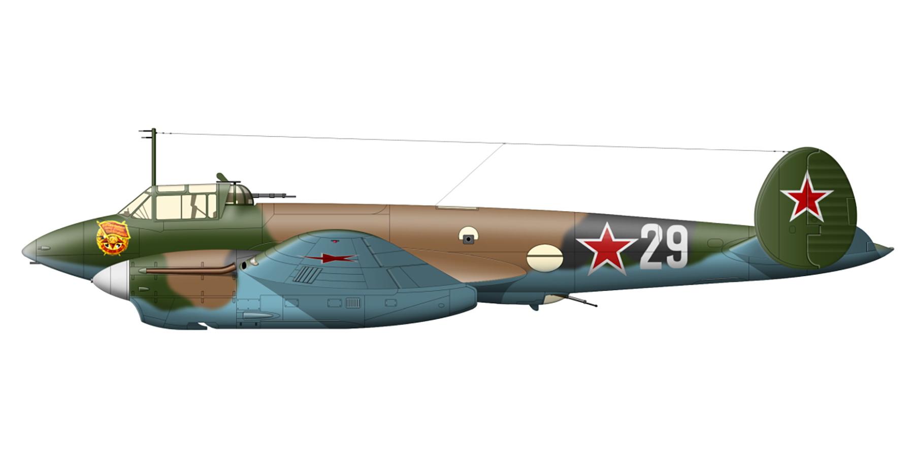 Petlyakov Pe 2 type 110 40GvBAP Black Sea Fleet White 29 Crimea 1944 0A
