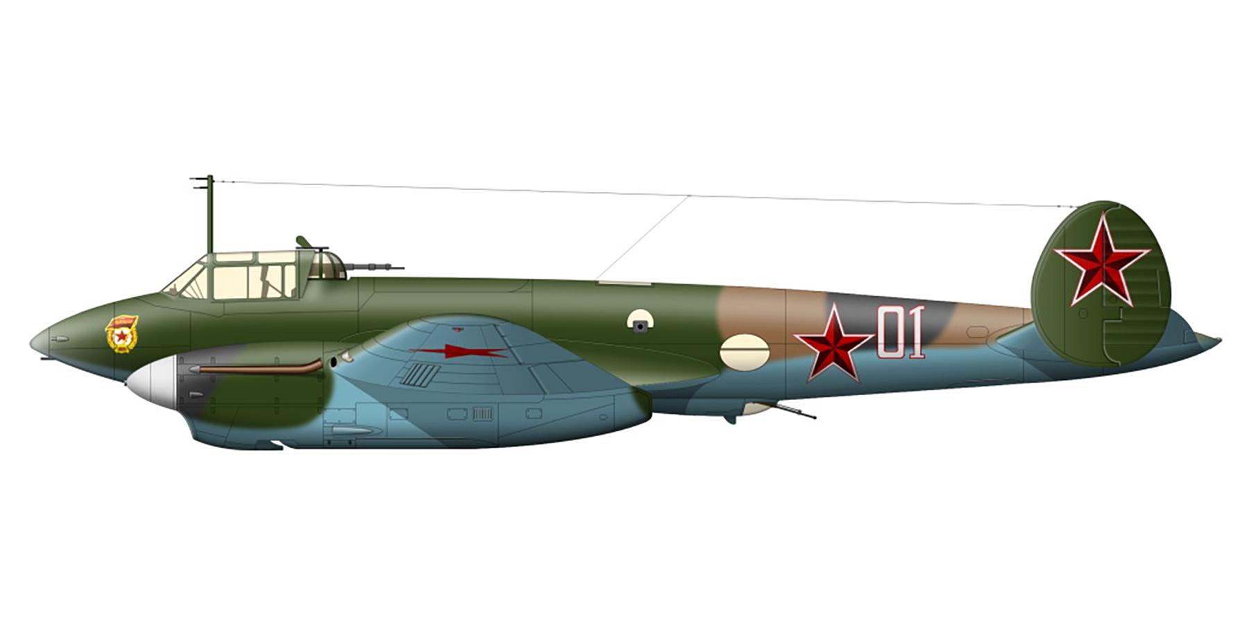 Petlyakov Pe 2 type 110 with 12GvPAP unit no 01 Feb 1944 45 0A