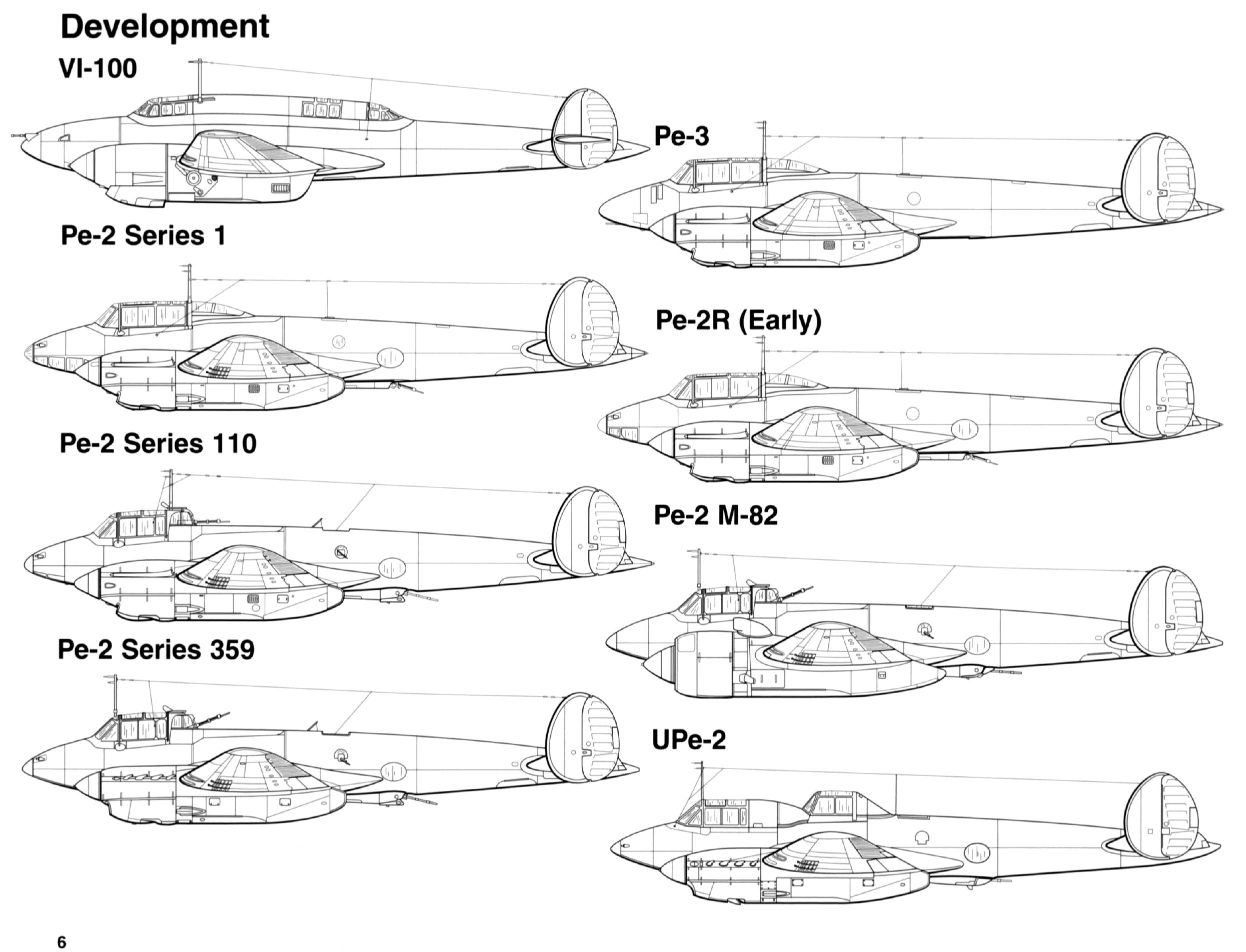 Petlyakov Pe 2 type development profiles by Signal Petlyakov Pe 2 SS1181 page P06