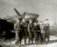 Asisbiz Aircrew Soviet 125GvBAP SgtMaj Maharram A Bagirov with the crew of Valentina Matyukhina and technicians 1944 01