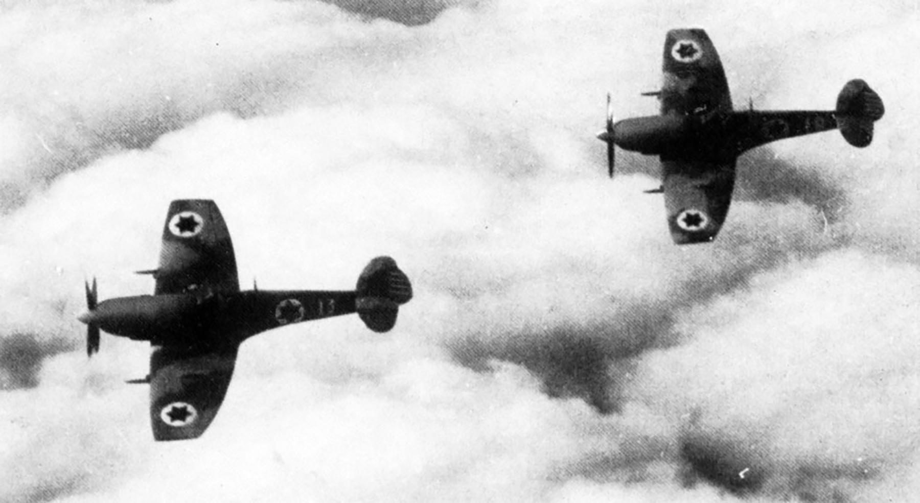 Spitfire LFIX IAF 101Sqn 13 in flight 1948 01