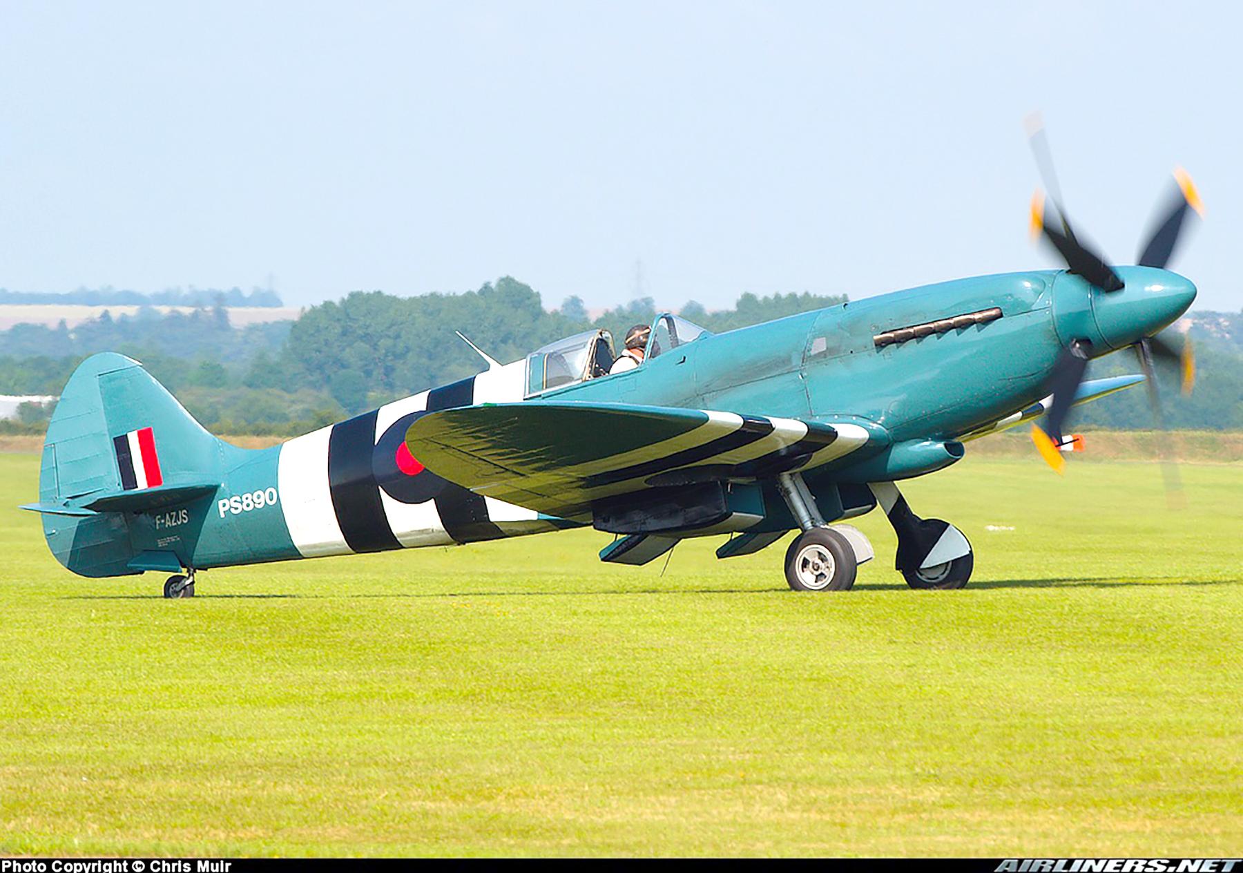 Airworthy Spitfire warbird PRXIX RAF PS890 F AZJS 02