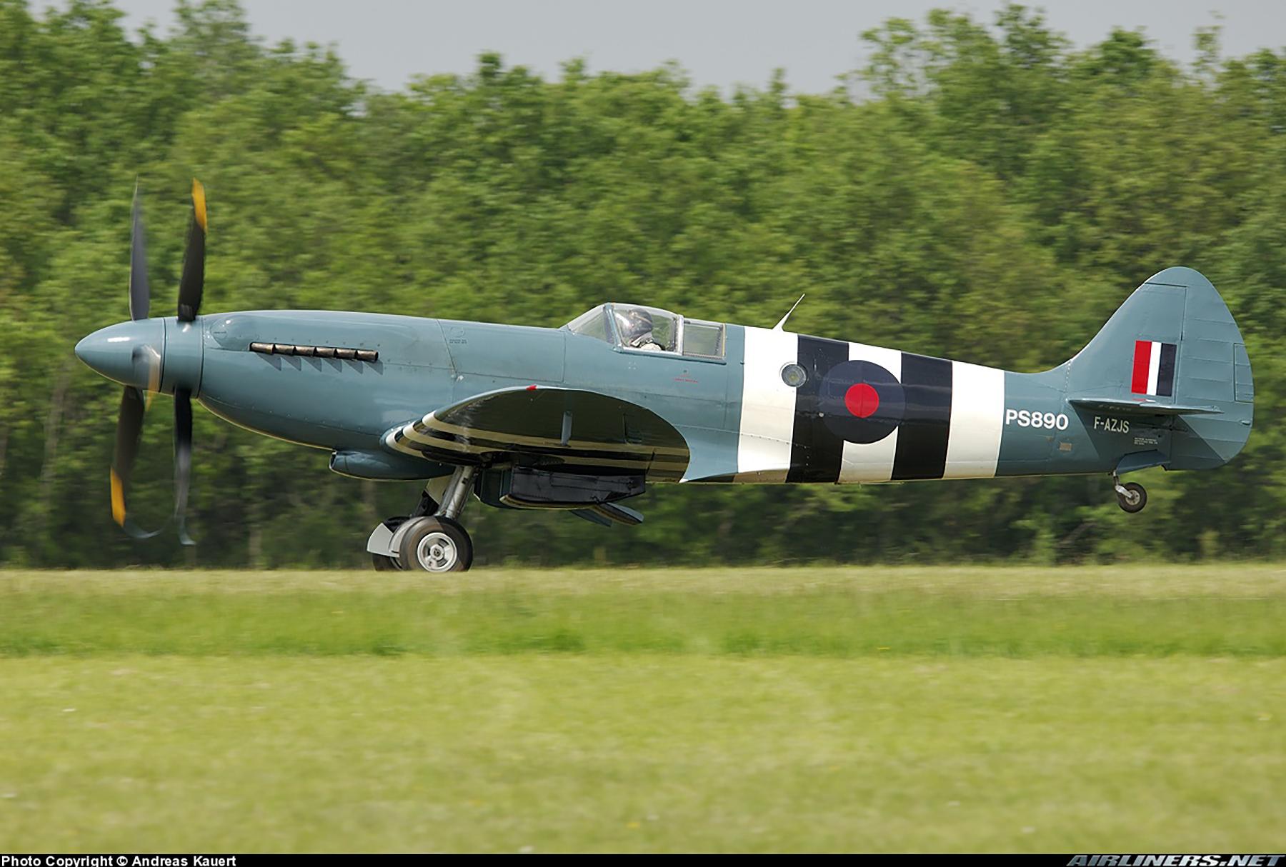 Airworthy Spitfire warbird PRXIX RAF PS890 F AZJS 03