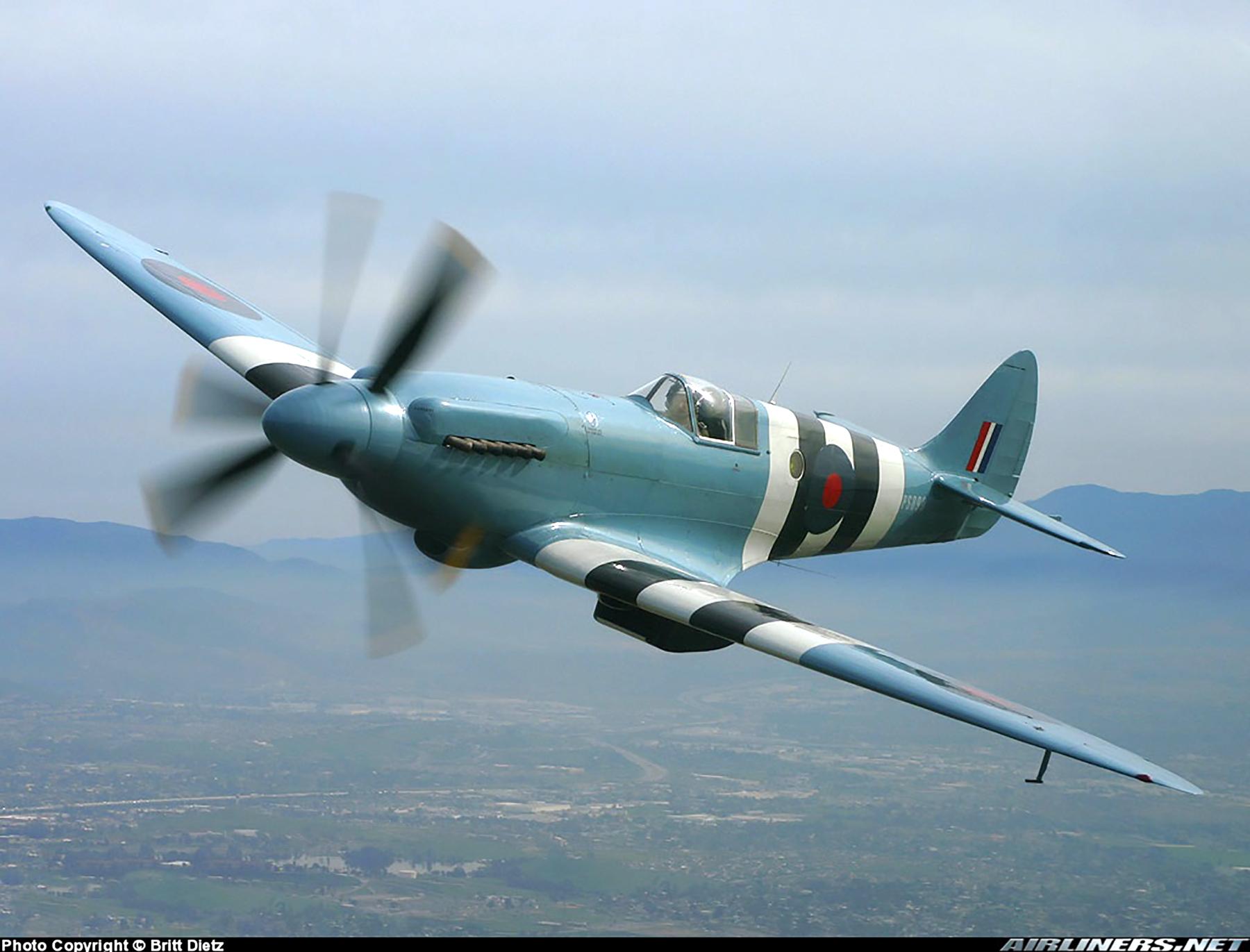 Airworthy Spitfire warbird PRXIX RAF PS890 F AZJS 05