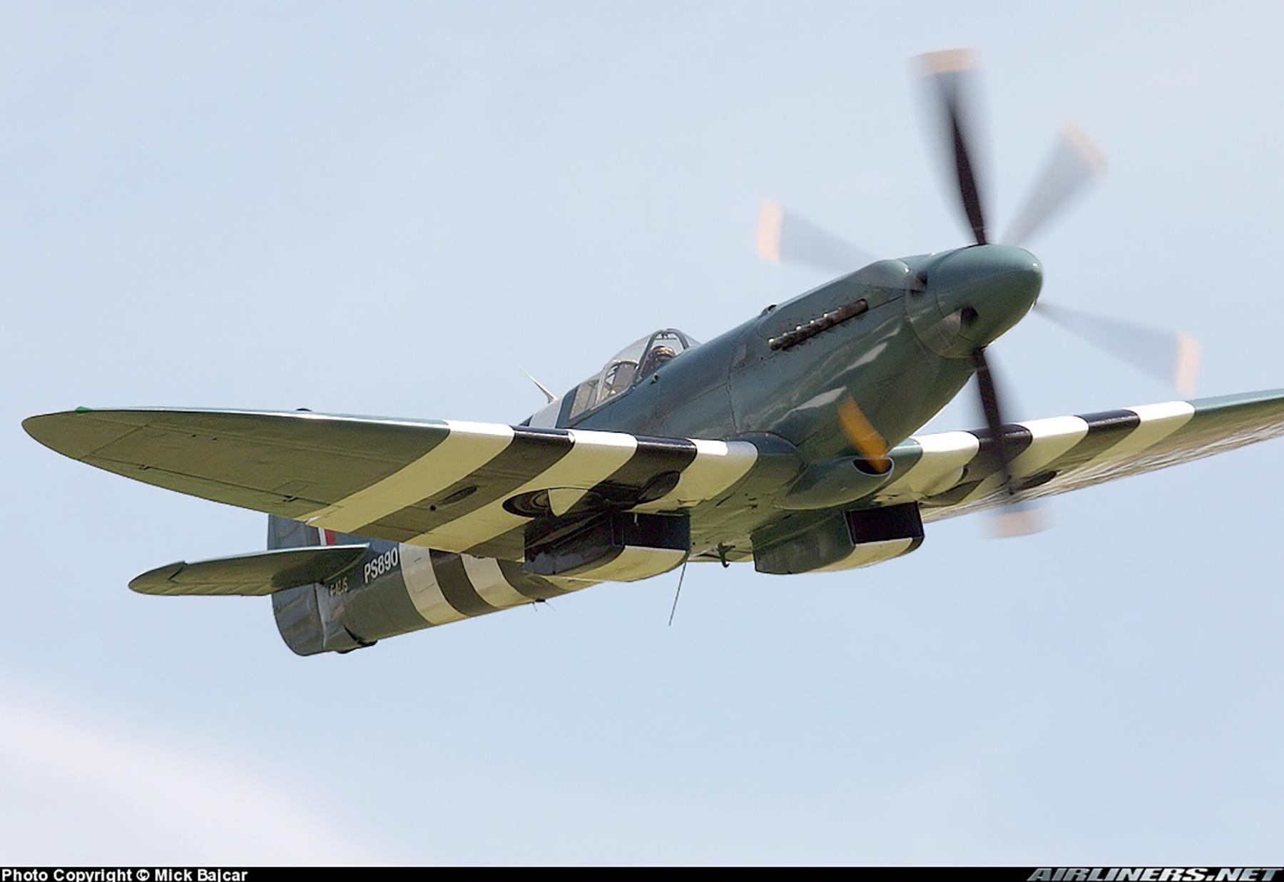 Airworthy Spitfire warbird PRXIX RAF PS890 F AZJS 06