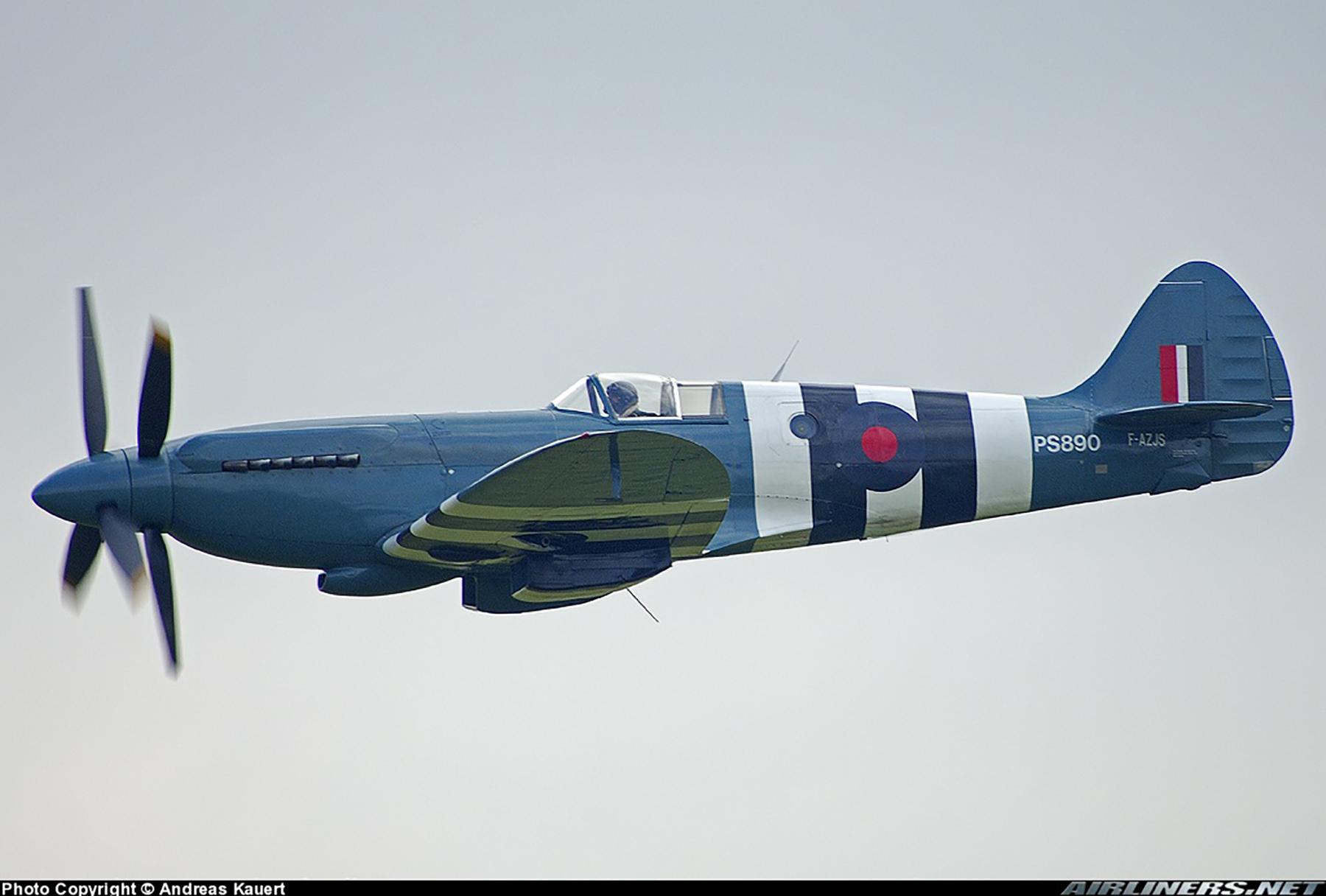 Airworthy Spitfire warbird PRXIX RAF PS890 F AZJS 08