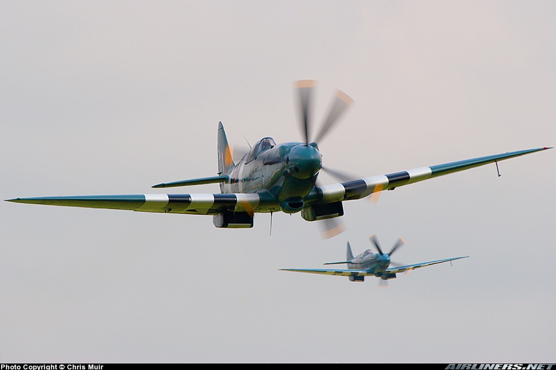Airworthy Spitfire warbird PRXIX RAF PS890 F AZJS 09