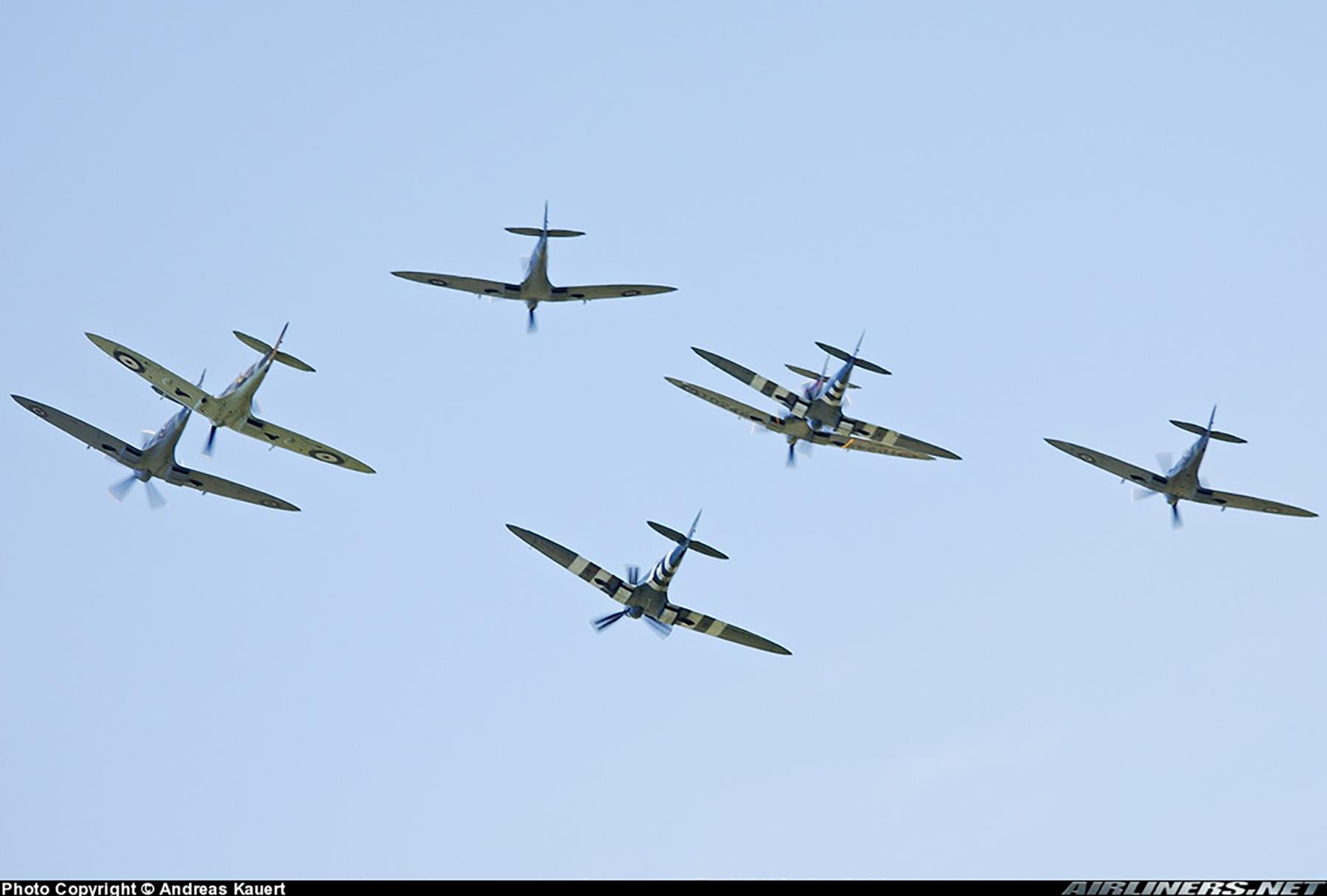 Airworthy Spitfire warbird PRXIX RAF PS890 F AZJS 10