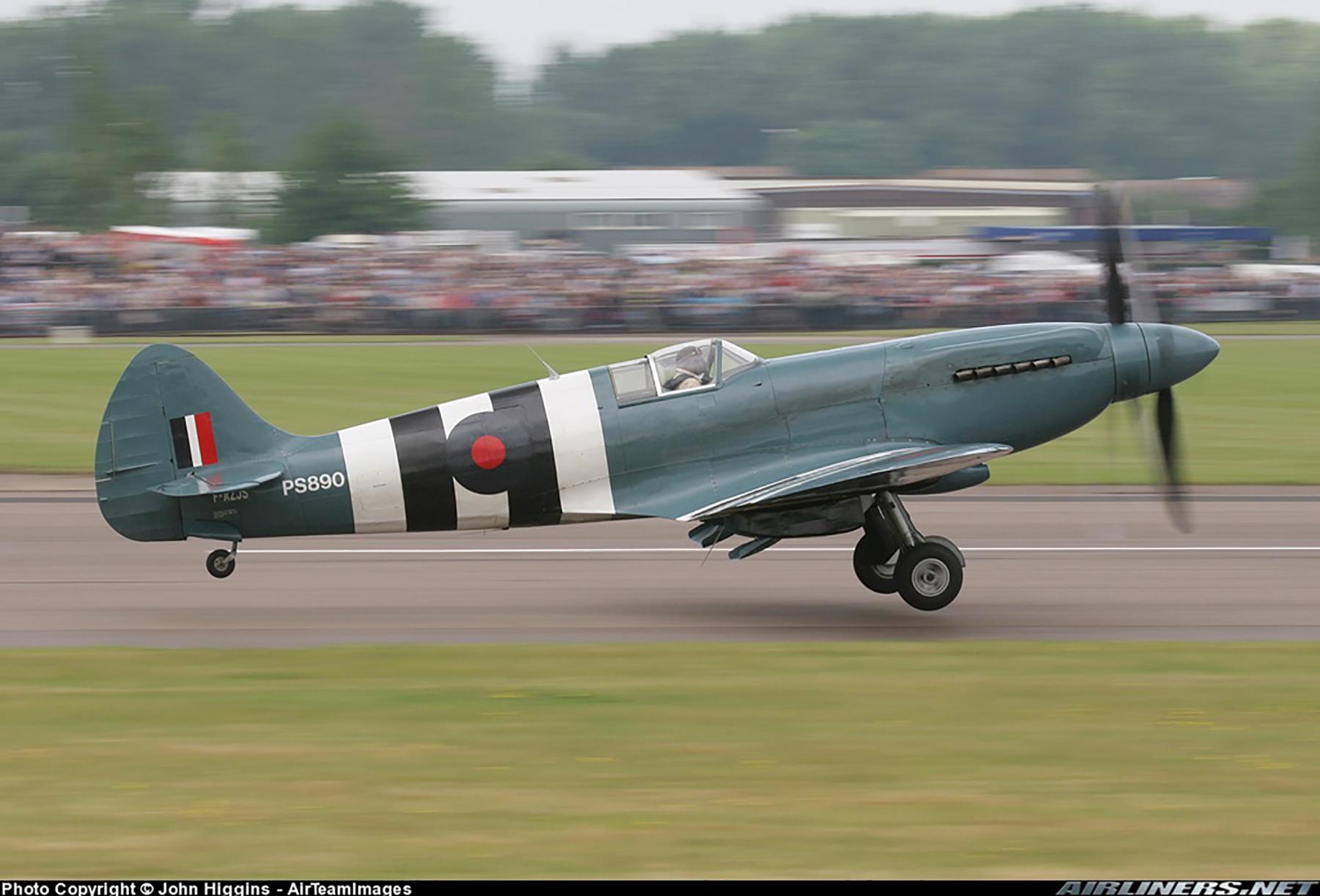 Airworthy Spitfire warbird PRXIX RAF PS890 F AZJS 12