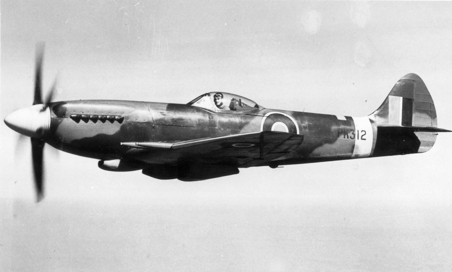 Spitfire 22 Prototype PK312 over England Mar 1945 web 01