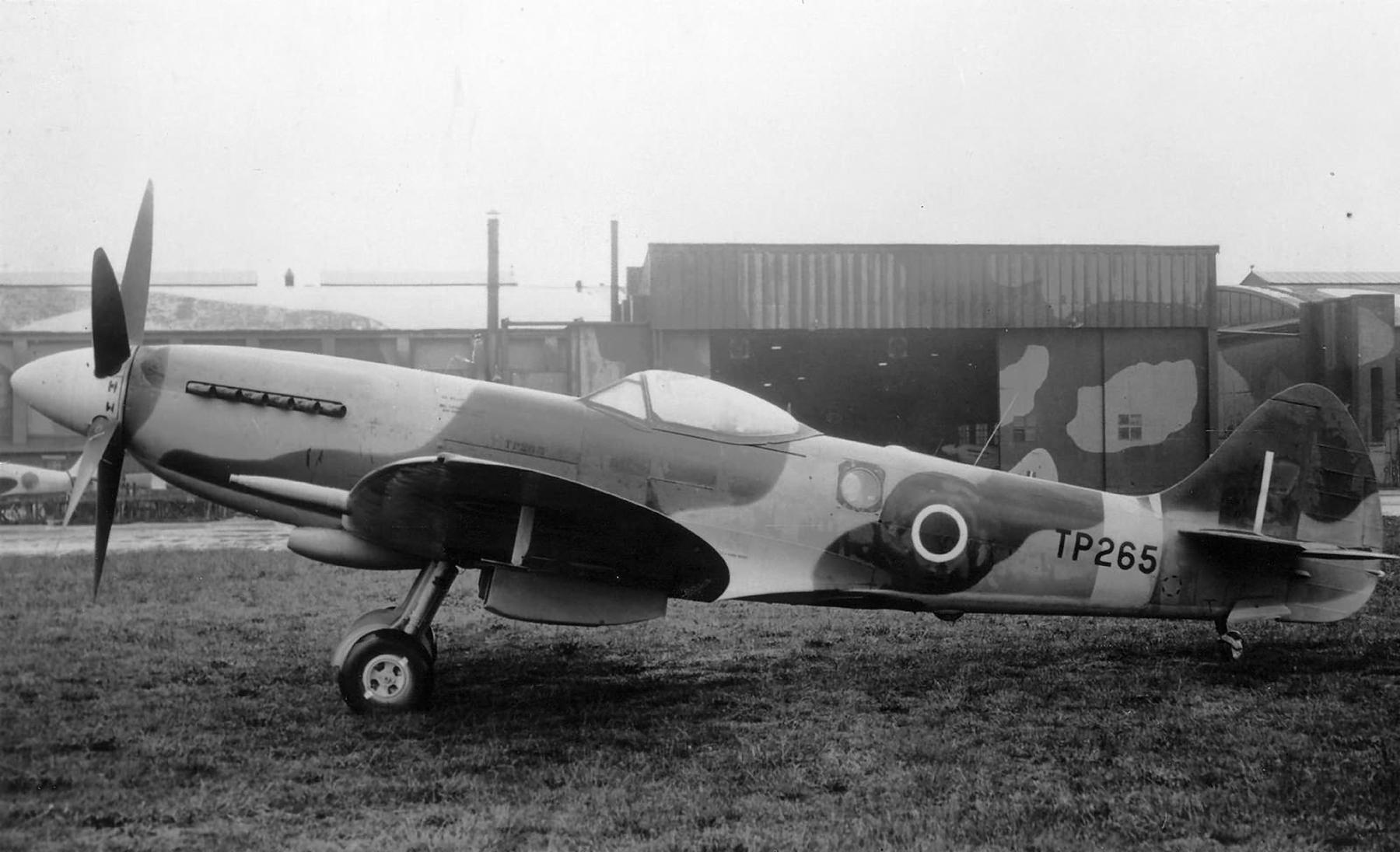 Spitfire FR18 RAF TP265 reconnaissance variant on the ground web 01