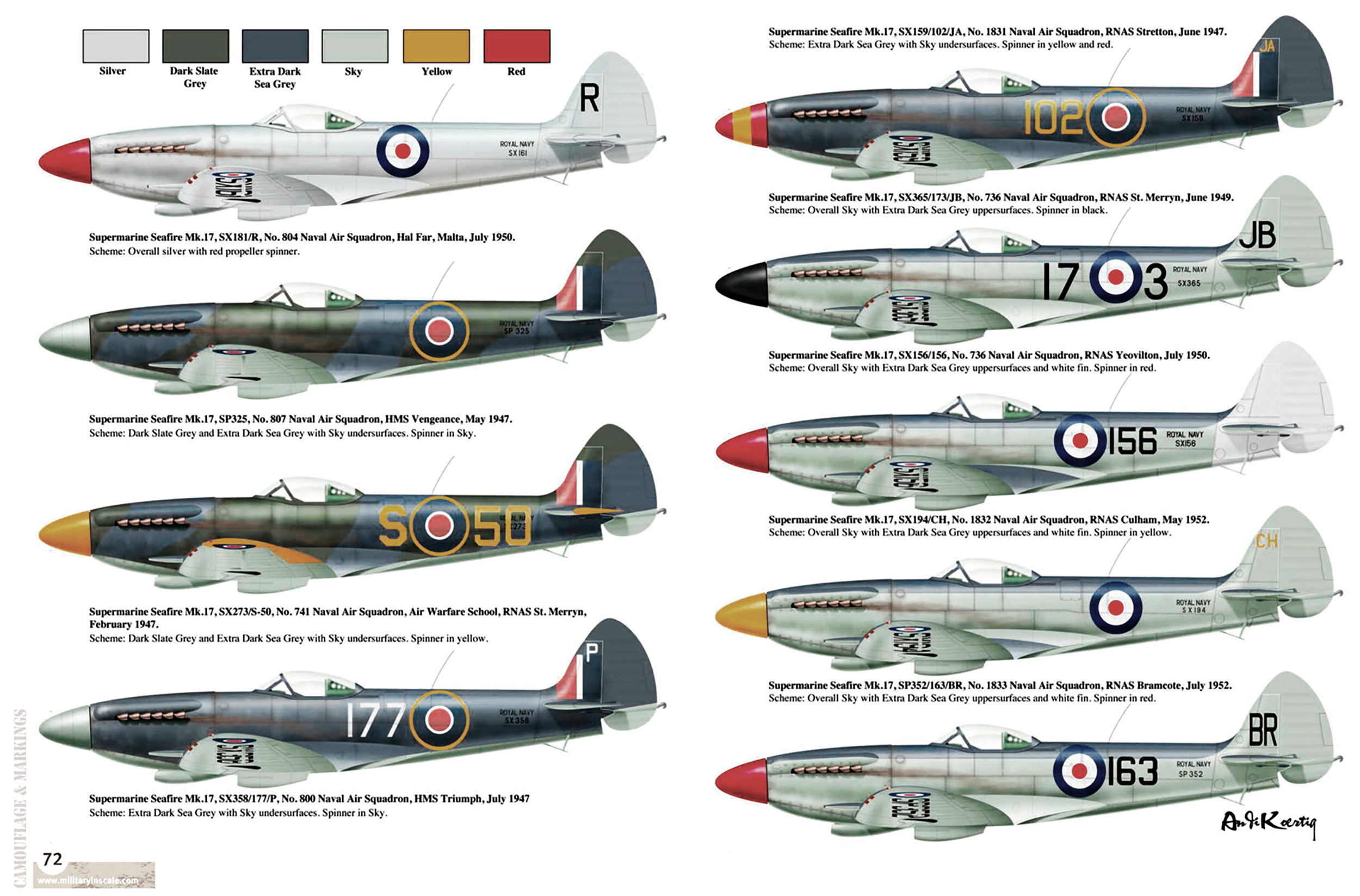 Spitfire Mk17s from various units by Military in Scale 2012 08