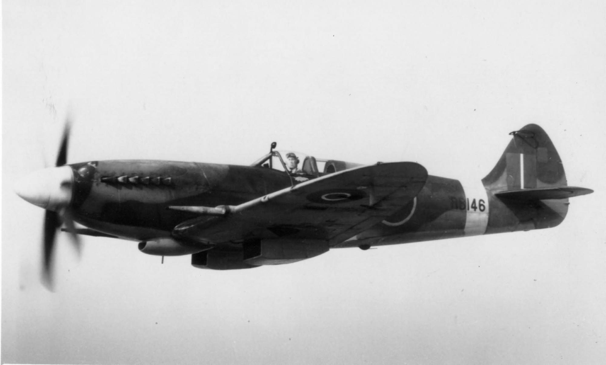 Spitfire XIV RAF RB146 in flight England web 01