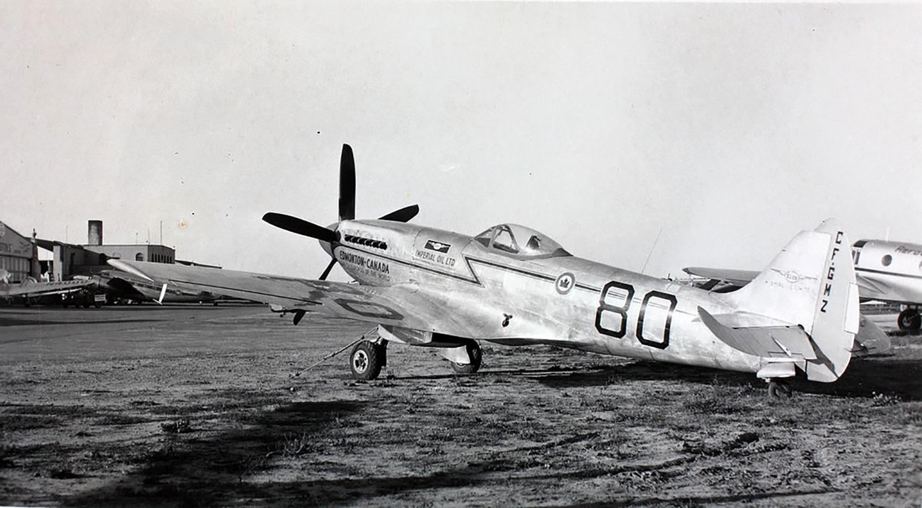 Spitfire XIVe TZ138 on civil register GF GMZ 1949 01