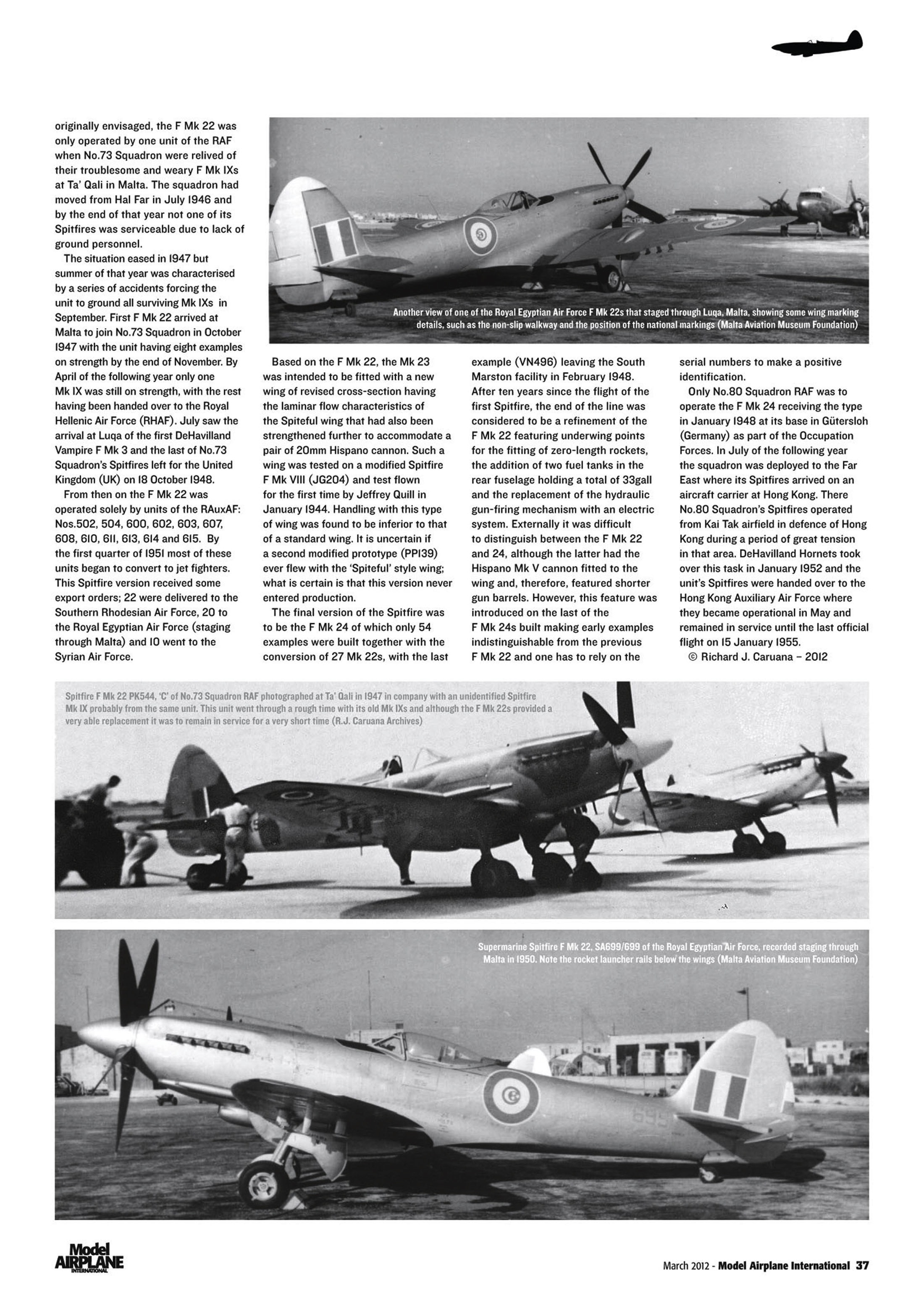 Supermarine Spitfire profiles by Model Airplane Int 080 2012 03 Page 37