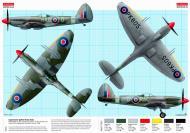 Asisbiz Spitfire Mk22 RAuxAF 502Sqn RAC D PK605 RAF Aldergrove Northern Ireland 1948 by Airfix 0A